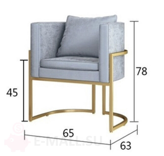 Кресло JULIUS CHAIR - STAINLESS STEEL AND VELVET